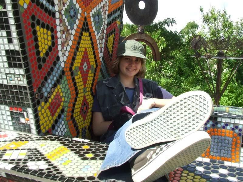 Holly on the tiled throne at the Rio Grande zoo
