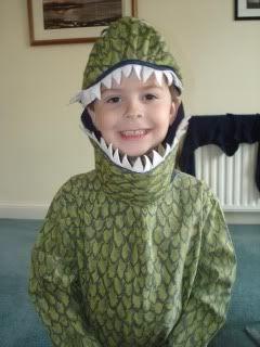 Adam in a dragon costume