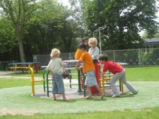 unschoolers in a playground in Leiden
