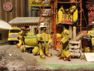 museum model of miners working