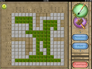 photo  of a pattern game called FlipPix
