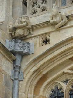gargoyles on a Gothic building
