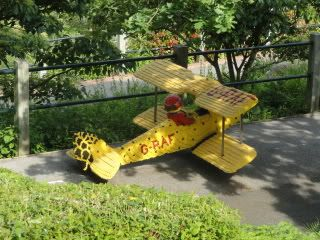 model biplane from Legoland Windsor
