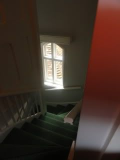 antique stairs down past a window