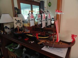 toy viking ship on display