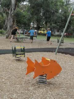 children and playground equipment