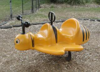 two-passenger bumblebee, playground ride for toddlers