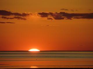 early sunrise on the Atlantic