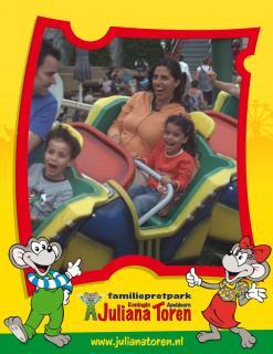family on roller coaster
