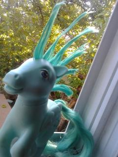My Little Pony, with spikey hair