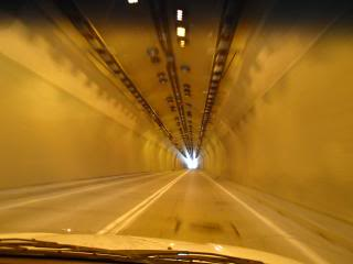photo from a car in a tunnel without other cars