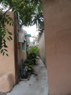 passageway between old adobe buildings, Old Town, Albuquerque