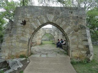two stone archways at a state park in Texas