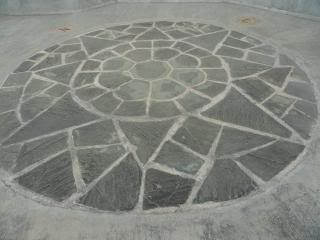 flagstone design in concrete