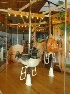 wildlife carousel in Minnesota—a fish and a duck show