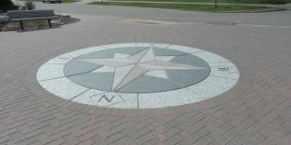mosaic compass rose, outdoors