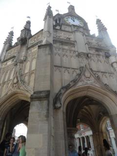 medieval market cross structure with 18th century clock up top, Chichester