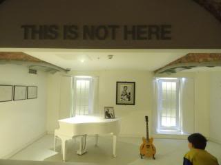 John Lennon's white baby grand, at a museum in Liverpool