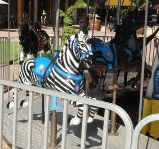 carousel, zebra to ride