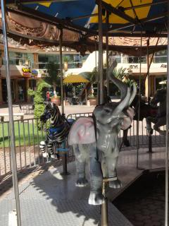 carousel elephant and zebra