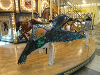 hummingbird, to ride, on a carousel