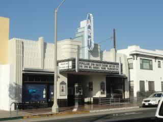 old movie theatre, white, southern California