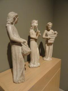 medieval musicians, carved, museum