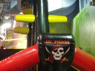 children's pirate ship at a play place