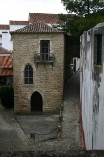medieval streets and buildings, very steep