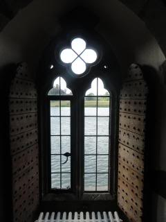 view through ancient window