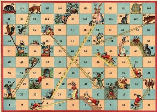 Snakes and Ladders online and through history