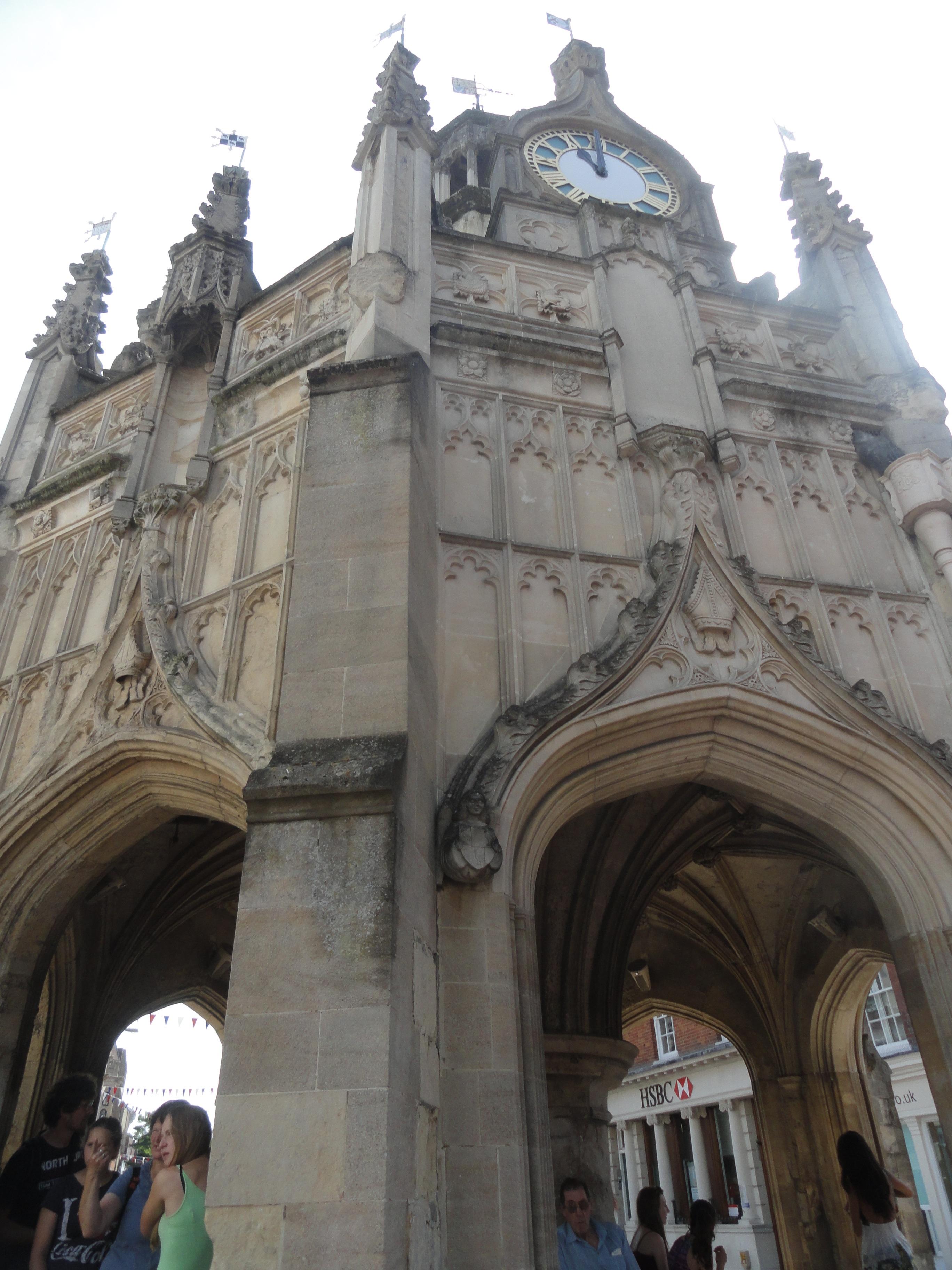 market square clock in Chichester